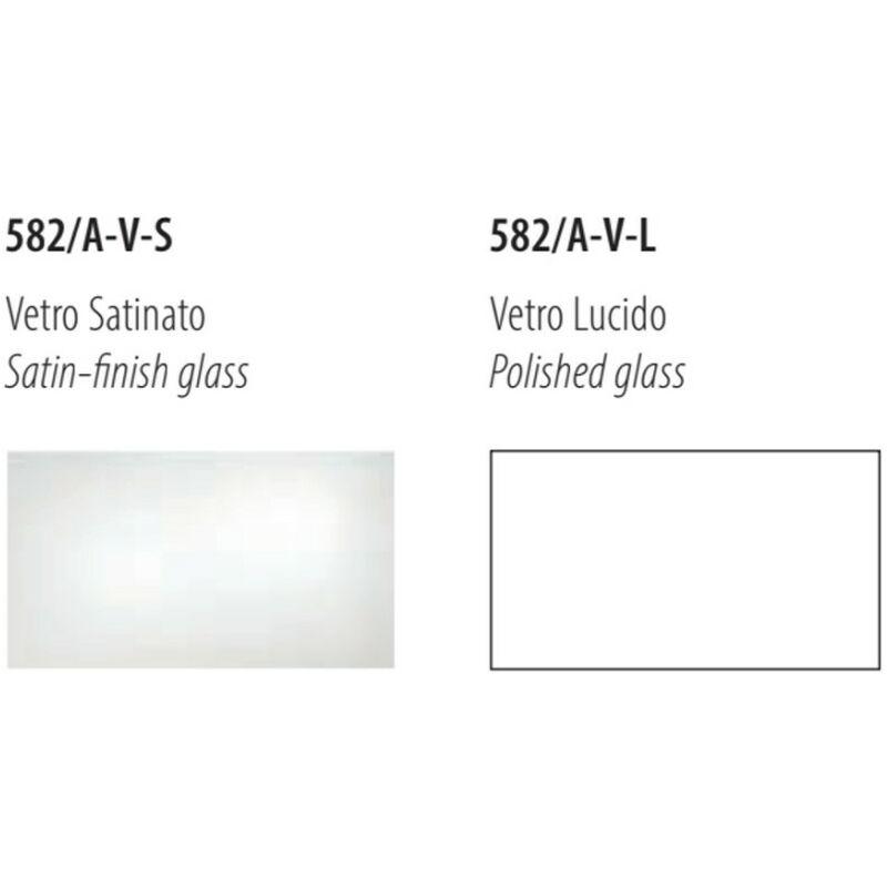 Applique fb-virgola 582 av e27 led vetro bianco lucido satinato luce diffusa lampada parete moderna interno, vetro bianco lucido