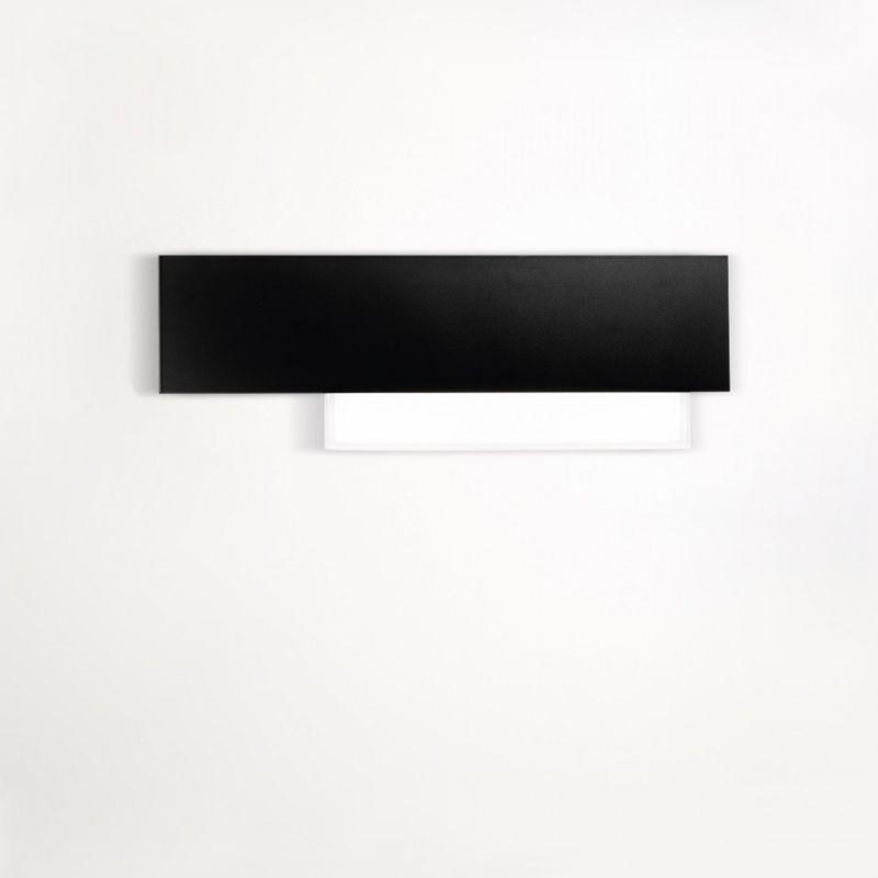G.e.a.luce - Applique ge-doha ap 15w led 1270lm 3000°k nero alluminio metacrilato lampada parete moderna interno - G.E.A. LUCE