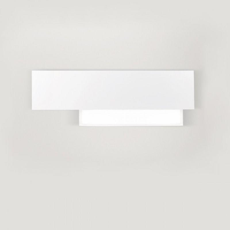Applique ge doha ap w led lm °k bianco alluminio