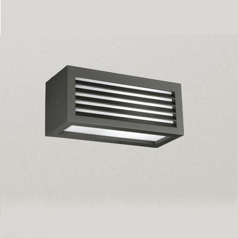 Applique alluminio ges310 ges311 ges313 led ip54 lampada parete moderno esterno e27, finitura metallo grigio-antracite - Gea Led