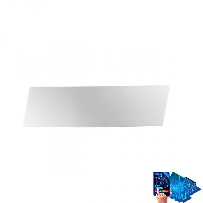 Applique gesso 9010 belfiore 2493 a led lampada parete wireless bianco verniciabile biemissione interno 23.5w 2650lm