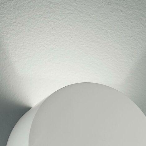 Applique Gesso Verniciabile Tonda Doppia Diffusione Di Luce Lampada Da  Parete G9 Intec I-leiron-ap