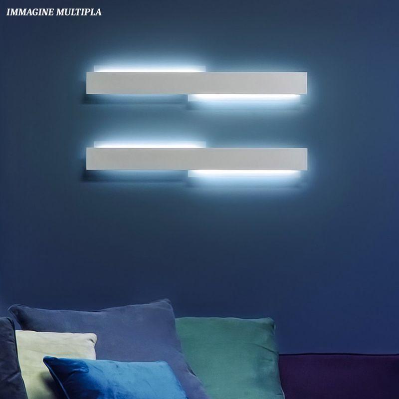 Giarnieri Light - Applique gn-mikado al 60w 6000lm 3000°k 91cm dimmerabile alluminio anticato lampada parete rettangolare biemissione moderna,