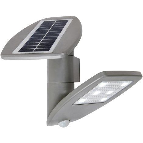 Applique Grise ZETA, LED Intégrée, 2W, 200 lumens, 4000K, IP44, SOLAIRE, Classe III