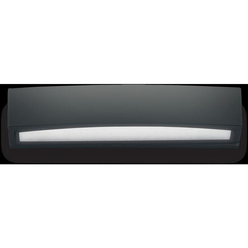 Lampada Da Parete 2 X 60w E27 Ideal Lux Nero