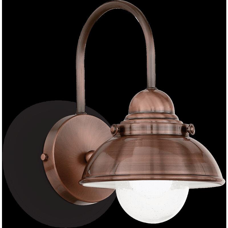 Lampada Da Parete 100w E27 Rame - Ideal Lux