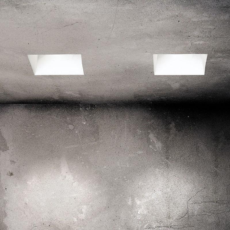 Applique incasso sf attica orientabile t gu led gesso bianco