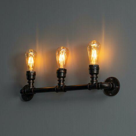 Applique industrielle 3 lumières large 64 cm - Jupiter