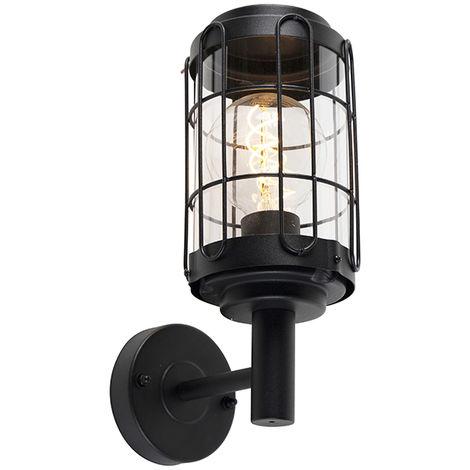 Applique industrielle noire IP44 - Bares Qazqa Moderne,Industriel Luminaire exterieur IP44 Rond