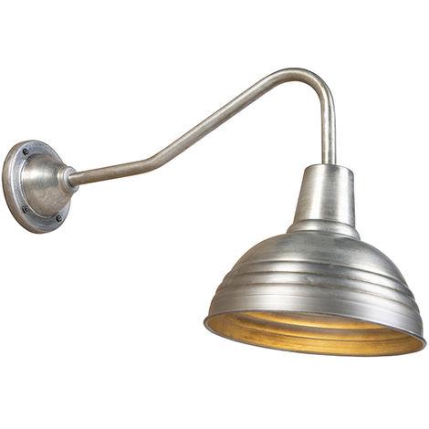 Applique industrielle zinc antique - Tay Qazqa Industriel, Rustique Luminaire interieur