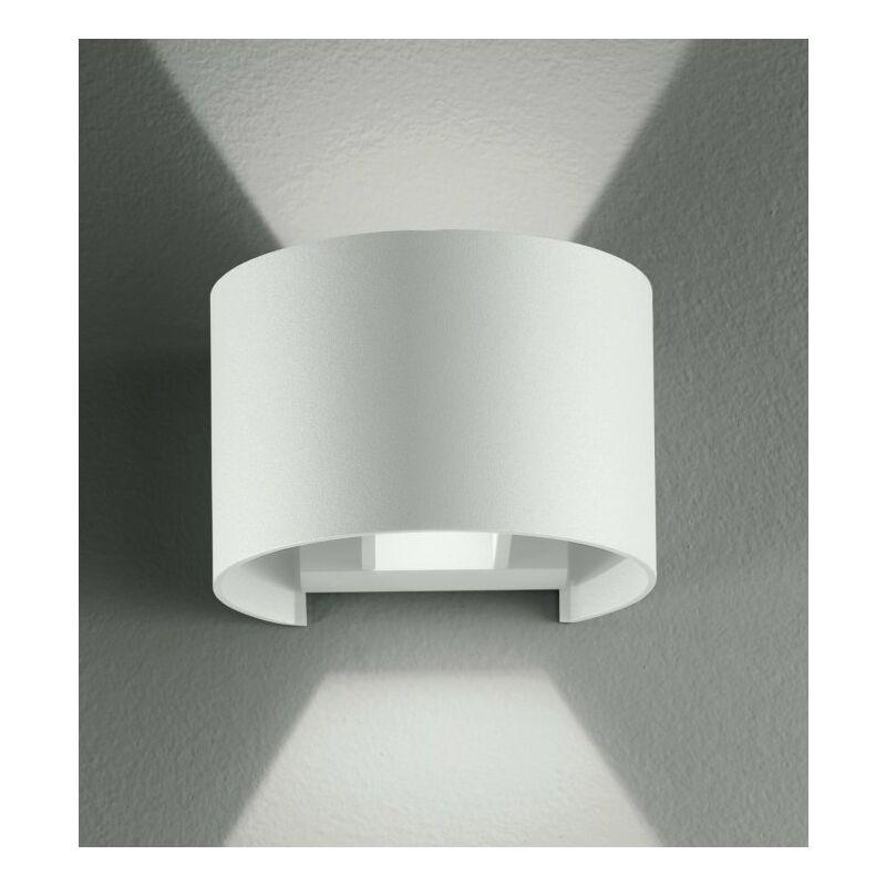 Applique bianca con luce led dalla forma tonda 6 watt 3000 kelvin