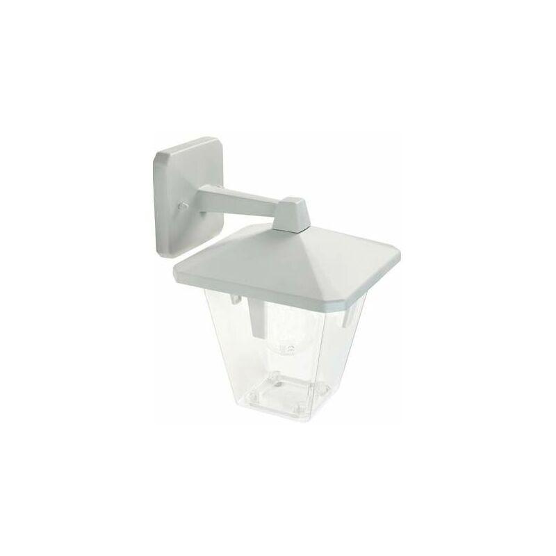 Applique lampada da parete E27 colore bianco da giardino, lampade per esterno Sovil della linea Eureka.
