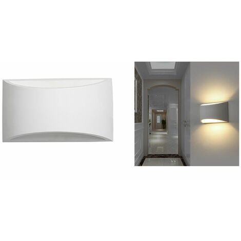 Applique lampada interno rettangolare gesso bianco moderno luce Dr GS-5022