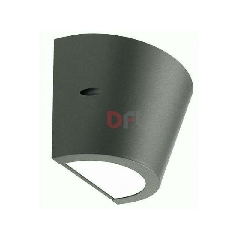 Applique lampada plafoniera umbe tipo conico cm26x17x17 colore grigio - DFL