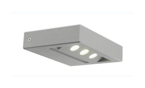 Applique led 7 5w lampada parete alluminio esterno luce naturale
