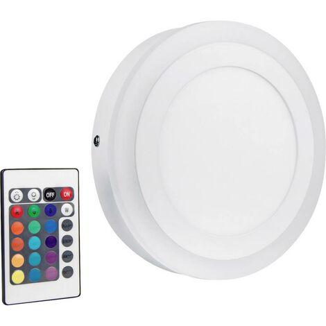 Applique LED LEDVANCE LED COLOR WHITE RD 200MM 19W LEDV 4058075227590 LED intégrée Puissance: 19 W blanc chaud