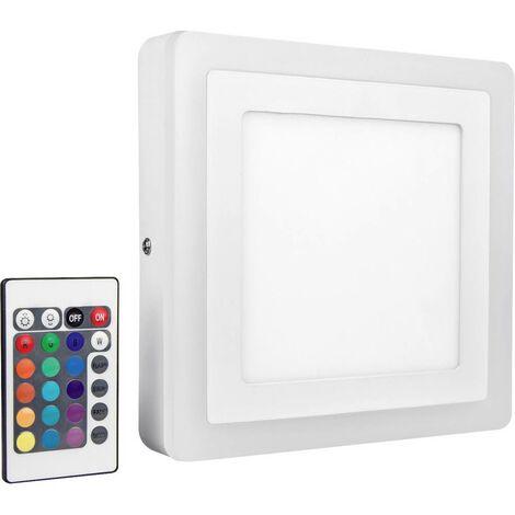 Applique LED LEDVANCE LED COLOR WHITE SQ 200MM 19W LEDV 4058075227576 LED intégrée Puissance: 19 W RVBB