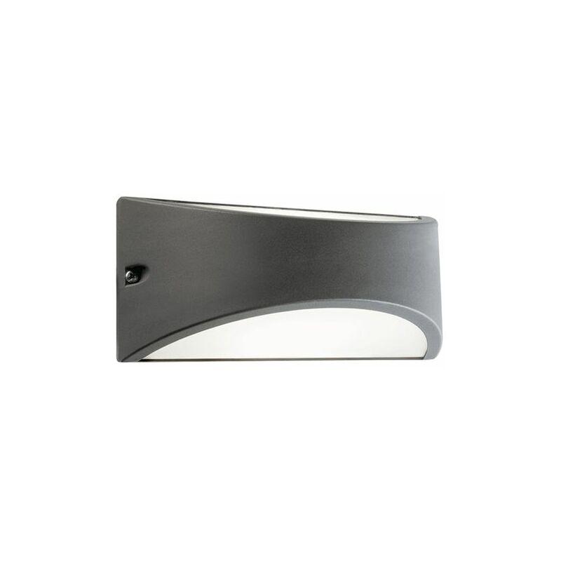 APPLIQUE LED 'LHASA' 10 W - cm 22 x 10 x 10 grigio