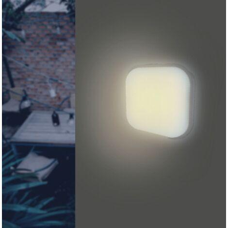 Applique LED Murale 20W Blanche Carré IP65 (Pack de 10)