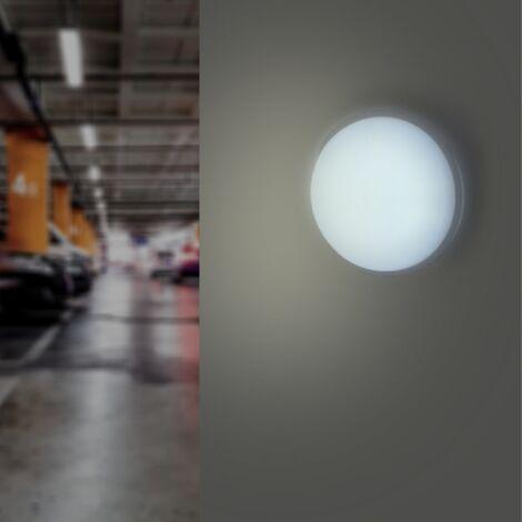 Applique LED Murale 20W Blanche Hublot Ronde IP65 (Pack de 5)