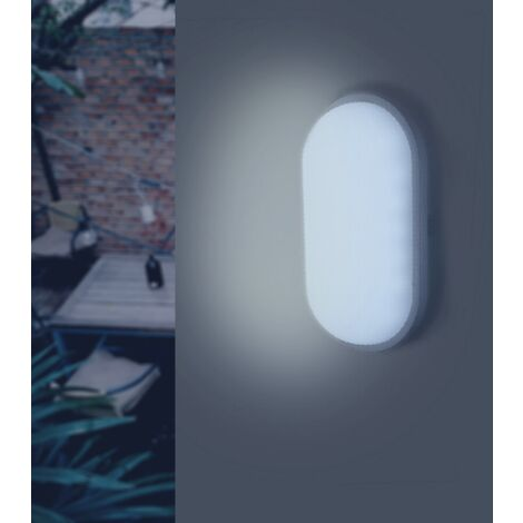 Applique LED Murale 20W Blanche Ovale IP65 (Pack de 10)