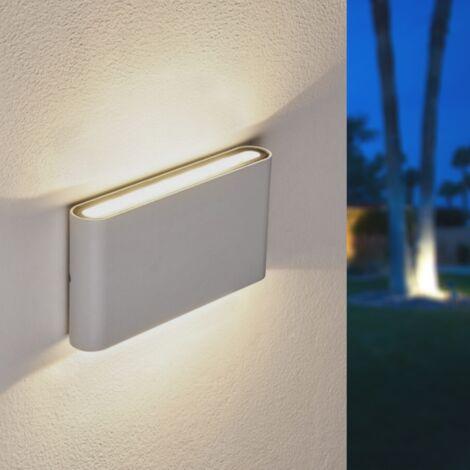 Applique LED Murale 2x 8W IP44 Double Faisceau BLANC - Blanc Neutre 4000K - 5500K