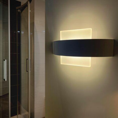 Applique LED Murale 8W IP44 Double Faisceau BLANC - Blanc Neutre 4000K - 5500K