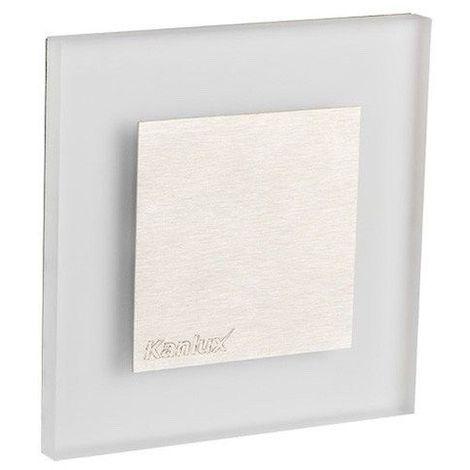 Applique led murale carré avec cache central 1 watt - Couleur - Blanc chaud 3000°K