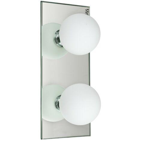 Applique LED murale ou plafond salle de bain 2 spots IP44 Luminaire Design
