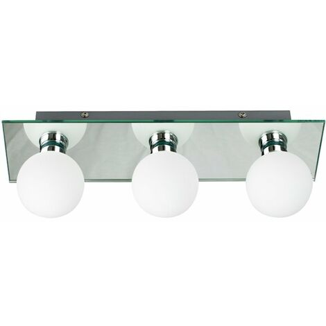 Applique LED murale ou plafond salle de bain 3 spots IP44 Luminaire Design
