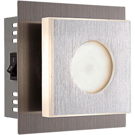 Applique LED salon salle à manger spot verre lumière argent Globo 49208-1