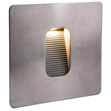 Applique LED Wall & Step, carrée, acier inoxydable
