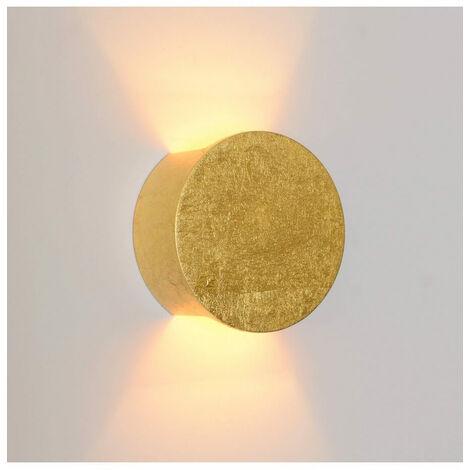 Applique lumière indirecte en plâtre - finition dorée Aries