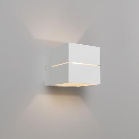 Applique Moderne blanc - Transfer 2 Qazqa Design, Industriel / Vintage, Moderne Luminaire interieur cube