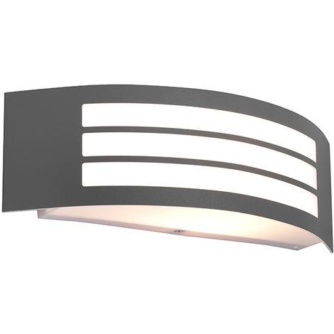 Applique Moderne Graphite / Antracite / Gris Foncé IP44 - Sapphire Deluxe Qazqa Moderne Luminaire exterieur IP44