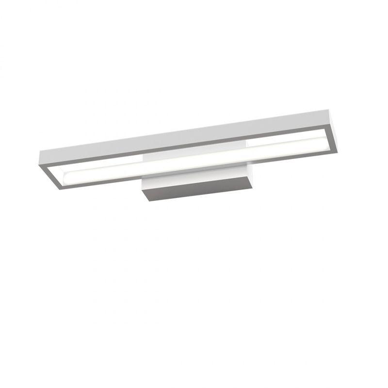 Applique modulo led integrato four squares 1162 ap 20w led 1450lm lampada parete biemissione moderna interno, colore bianco - Top Light