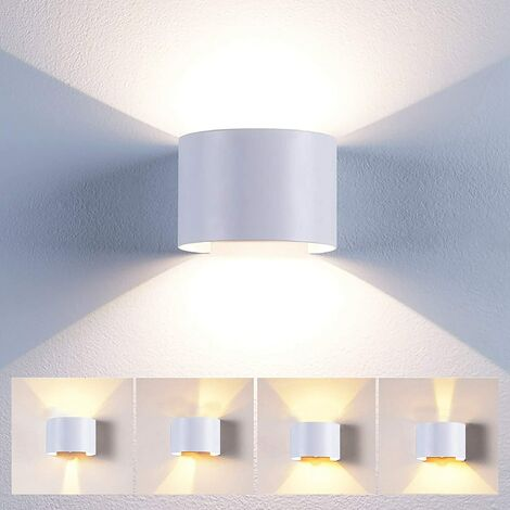 Applique Mural Interieur 12W LED Blanc, Lampe murale Moderne Up and Down  Design Pour Couloir Escalier Salon (Blanc Chaud)