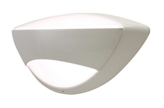 Applique mural ovale blanche polycarbonate avec lampe fluo w g