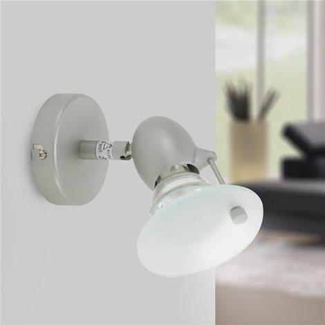 Patere Murale Et Satiné Orientable Spot Inclinable Lumière Gu10 Applique 50w 1 Gris LUMVGqSzp