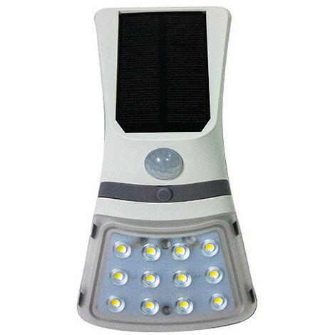 Applique murale à énergie solaire LED 1,5W 220Lm 4000K Coloris Blanc - 3076 - Fox Light