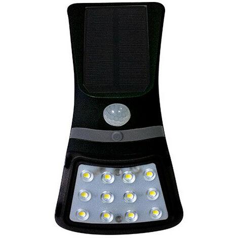 Applique murale à énergie solaire LED 1,5W 220Lm 4000K Coloris Noir - 3075 - Fox Light