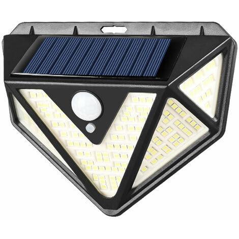 Applique murale a induction solaire corps humain Applique murale de cour eclairage d'escalier Lumiere a cinq cotes 166LED IP65