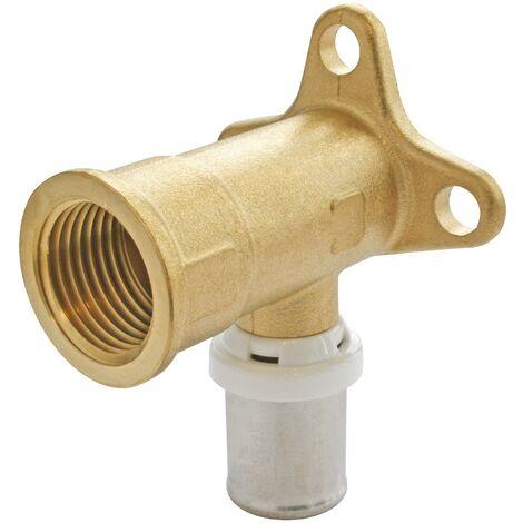 Applique Murale à sertir pour tube Multicouche Ø16-F15/21