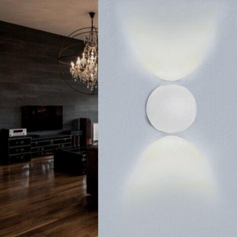 Applique Murale Blanche Design LED Double Faisceaux IP54 6W - Blanc Neutre 4000K - 5500K