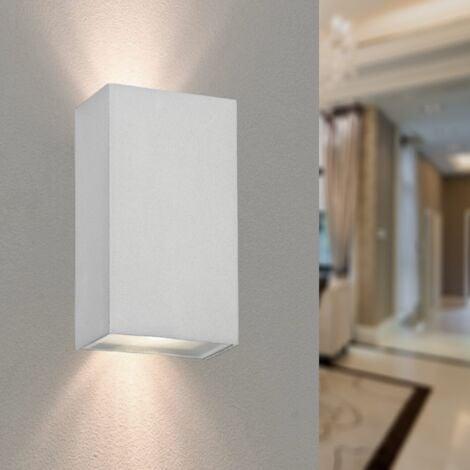 Applique Murale Blanche IP44 LED Double Faisceau 2x5W - Blanc Neutre 4000K - 5500K