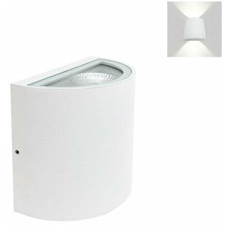 Applique Murale Blanche LED Double Faisceau 10W IP44 - Blanc Neutre 4000K - 5500K