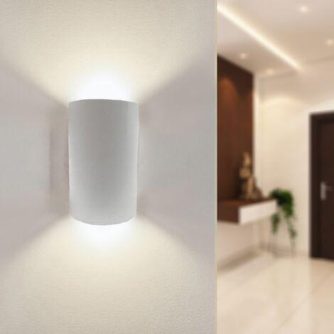 Applique Murale Blanche LED IP44 Double Faisceau 10W