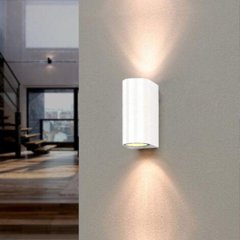 Applique Murale Blanche LED IP44 double faisceau GU10