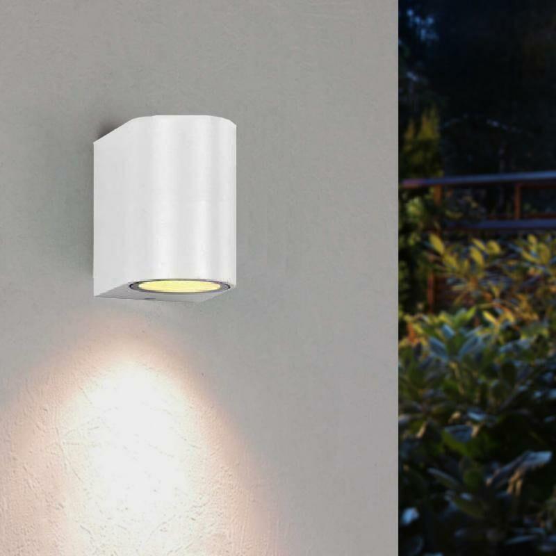 Applique Murale Blanche LED IP44 pour Ampoule GU10 - Silamp