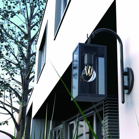 """main image of """"Applique murale Castle Light 230V noire et vitrage verre"""""""
